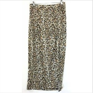 Lane Bryant Animal Print Long Maxi Skirt 14 16